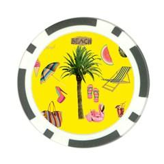 Aloha   Summer Fun 2 Poker Chip Card Guard (10 Pack)