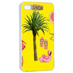 Aloha   Summer Fun 2 Apple Iphone 4/4s Seamless Case (white)