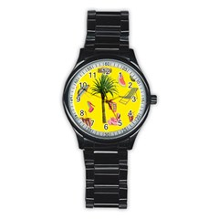 Aloha   Summer Fun 2 Stainless Steel Round Watch