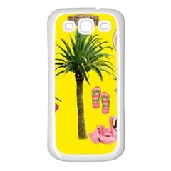 Aloha   Summer Fun 2 Samsung Galaxy S3 Back Case (white)