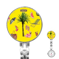 Aloha   Summer Fun 2 Stainless Steel Nurses Watch