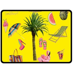 Aloha   Summer Fun 2 Double Sided Fleece Blanket (large)