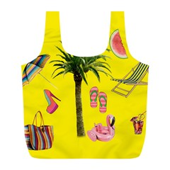 Aloha   Summer Fun 2 Full Print Recycle Bags (l)