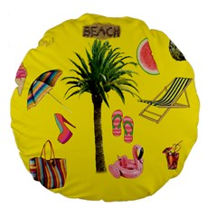Aloha   Summer Fun 2 Large 18  Premium Flano Round Cushions