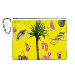 Aloha   Summer Fun 2 Canvas Cosmetic Bag (l)
