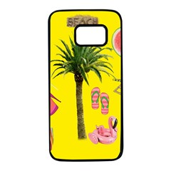 Aloha   Summer Fun 2 Samsung Galaxy S7 Black Seamless Case
