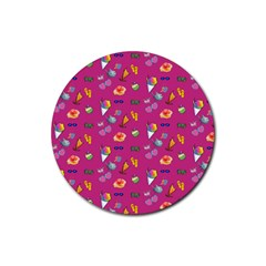 Aloha   Summer Fun 1b Rubber Coaster (round)