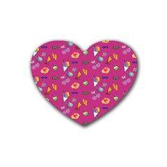 Aloha   Summer Fun 1b Rubber Coaster (heart)