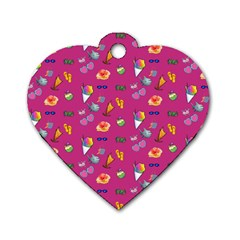 Aloha   Summer Fun 1b Dog Tag Heart (two Sides)