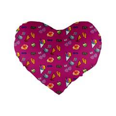 Aloha   Summer Fun 1b Standard 16  Premium Heart Shape Cushions