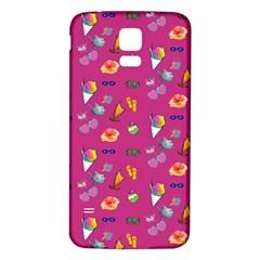 Aloha   Summer Fun 1b Samsung Galaxy S5 Back Case (white)