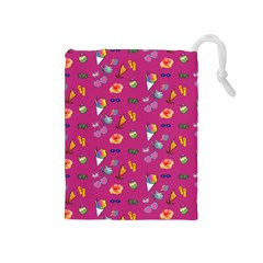 Aloha   Summer Fun 1b Drawstring Pouches (medium)