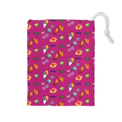 Aloha   Summer Fun 1b Drawstring Pouches (large)