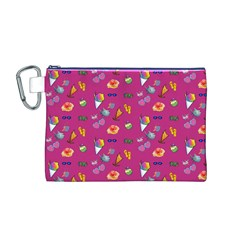 Aloha   Summer Fun 1b Canvas Cosmetic Bag (m)