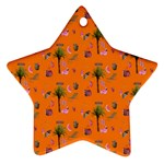 Aloha   Summer Fun 2c Star Ornament (Two Sides) Back