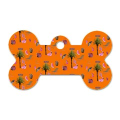 Aloha   Summer Fun 2c Dog Tag Bone (two Sides)