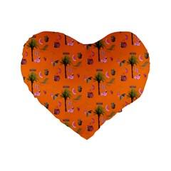 Aloha   Summer Fun 2c Standard 16  Premium Heart Shape Cushions