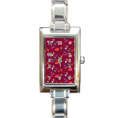 Aloha   Summer Fun 1c Rectangle Italian Charm Watch