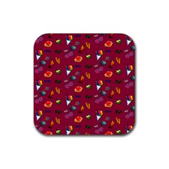 Aloha   Summer Fun 1c Rubber Square Coaster (4 Pack)