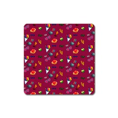 Aloha   Summer Fun 1c Square Magnet