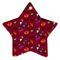 Aloha   Summer Fun 1c Star Ornament (two Sides)