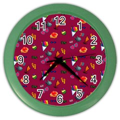 Aloha   Summer Fun 1c Color Wall Clocks