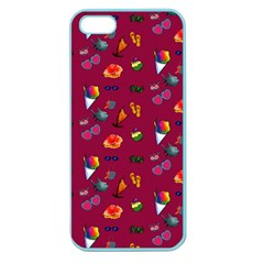 Aloha   Summer Fun 1c Apple Seamless Iphone 5 Case (color)