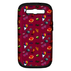 Aloha   Summer Fun 1c Samsung Galaxy S Iii Hardshell Case (pc+silicone)