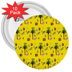 Aloha   Summer Fun 2b 3  Buttons (10 Pack)