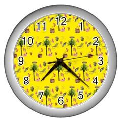 Aloha   Summer Fun 2b Wall Clocks (silver)