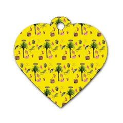 Aloha   Summer Fun 2b Dog Tag Heart (two Sides)