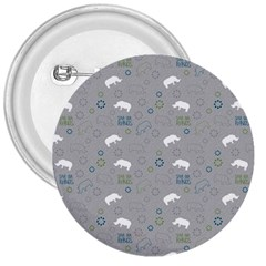 Shave Our Rhinos Animals Monster 3  Buttons