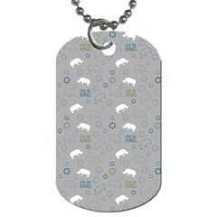Shave Our Rhinos Animals Monster Dog Tag (one Side)