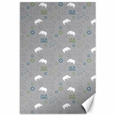Shave Our Rhinos Animals Monster Canvas 20  X 30