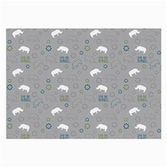 Shave Our Rhinos Animals Monster Large Glasses Cloth (2 Side)