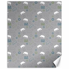 Shave Our Rhinos Animals Monster Canvas 11  X 14