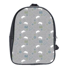 Shave Our Rhinos Animals Monster School Bag (xl)