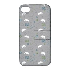 Shave Our Rhinos Animals Monster Apple Iphone 4/4s Hardshell Case With Stand