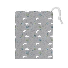 Shave Our Rhinos Animals Monster Drawstring Pouches (large)