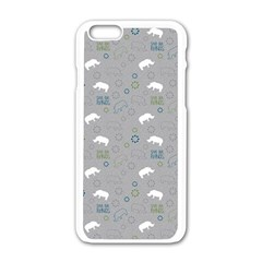 Shave Our Rhinos Animals Monster Apple Iphone 6/6s White Enamel Case