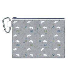 Shave Our Rhinos Animals Monster Canvas Cosmetic Bag (l)