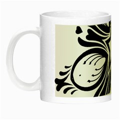 Star Sunflower Flower Floral Black Night Luminous Mugs
