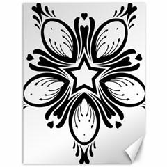Star Sunflower Flower Floral Black Canvas 36  X 48