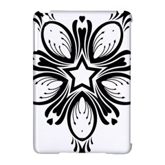 Star Sunflower Flower Floral Black Apple Ipad Mini Hardshell Case (compatible With Smart Cover)
