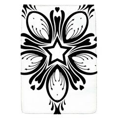 Star Sunflower Flower Floral Black Flap Covers (s)