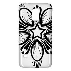 Star Sunflower Flower Floral Black Galaxy S5 Mini