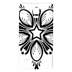 Star Sunflower Flower Floral Black Galaxy Note 4 Back Case