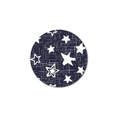 Star Space Line Blue Art Cute Kids Golf Ball Marker (10 Pack)