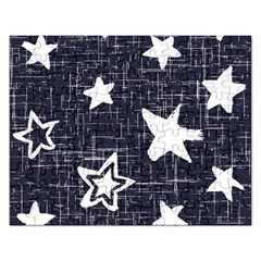 Star Space Line Blue Art Cute Kids Rectangular Jigsaw Puzzl