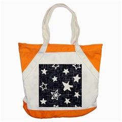 Star Space Line Blue Art Cute Kids Accent Tote Bag